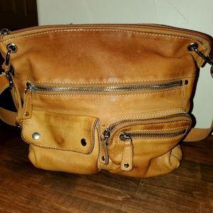 Light leather fossil purse